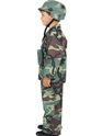 Child Army Boy Costume  - Back View - Thumbnail