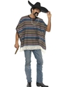 Adult Authentic Striped Poncho Thumbnail