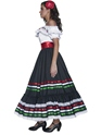 Adult Authentic Western Sexy Senorita Costume  - Back View - Thumbnail