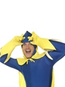 Adult Bananaman Second Skin Costume  - Side View - Thumbnail