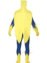 Adult Bananaman Second Skin Costume  - Back View - Thumbnail