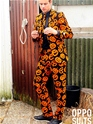 Adult Pumpking Oppo Suit  - Back View - Thumbnail