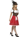 Adult Bavarian Beer Wench Oktoberfest Costume  - Back View - Thumbnail