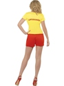 Adult Baywatch Ladies Beach Costume  - Side View - Thumbnail