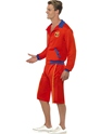 Adult Baywatch Beach Mens Lifeguard Costume  - Back View - Thumbnail