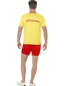 Adult Baywatch Men's Beach Costume  - Side View - Thumbnail