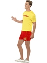 Adult Baywatch Men's Beach Costume  - Back View - Thumbnail
