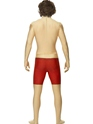 Adult Baywatch Second Skin Costume  - Back View - Thumbnail