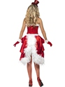 Adult Santa Baby Burlesque Costume  - Back View - Thumbnail