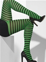 Black and Green Striped Tights Thumbnail
