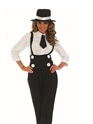 Adult Black Gangster Lady Costume  - Back View - Thumbnail