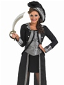 Adult Black Pirate Girl Costume  - Side View - Thumbnail
