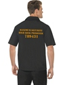 Adult Mens Black Prison Shirt  - Back View - Thumbnail