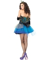 Blue Beauty Peacock Costume  - Back View - Thumbnail