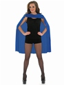 Adult Ladies Blue Super Hero Cape  - Back View - Thumbnail