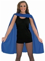 Adult Ladies Blue Super Hero Cape Thumbnail