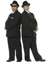 Adult Blues Brothers Costume  - Back View - Thumbnail