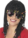 Braided And Beaded Wig Black  - Back View - Thumbnail