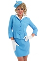 Adult Blue Cabin Crew Costume Thumbnail