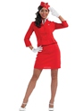 Adult Red Cabin Crew Costume Thumbnail