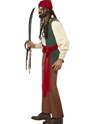 Adult Carribean Drunken Pirate Costume  - Back View - Thumbnail