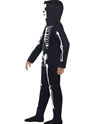 Child Skeleton Onesie Costume  - Back View - Thumbnail