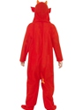 Child Devil Onesie Costume  - Side View - Thumbnail