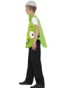 Child Angry Birds Green Pig Costume  - Back View - Thumbnail