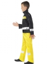 Child Fireman Costume  - Back View - Thumbnail