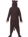 Child Monkey Onesie Costume  - Side View - Thumbnail