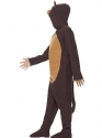Child Monkey Onesie Costume  - Back View - Thumbnail