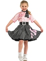 Child 50s Rock n Roll Costume  - Back View - Thumbnail