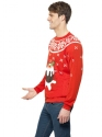 Adult Christmas Pudding Jumper  - Back View - Thumbnail