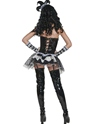 Adult Cirque Sinister Tainted Harlequin Costume  - Back View - Thumbnail