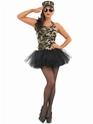 Adult Commando Tutu Girl Costume  - Back View - Thumbnail