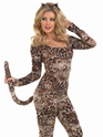 Adult Cougar Catsuit Costume  - Back View - Thumbnail