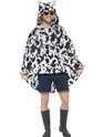Cow Party Poncho Festival Costume  - Back View - Thumbnail