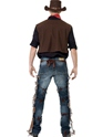 Adult Cowboy Costume  - Side View - Thumbnail