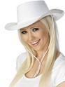 Cowboy Hat White  - Back View - Thumbnail