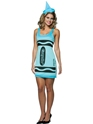 Crayola Crayons Sky Blue Tank Dress Costume
