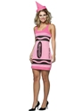 Crayola Crayons Tickle Pink Tank Dress Costume