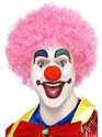 Crazy Clown Pink Wig  - Back View - Thumbnail