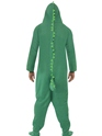 Adult Crocodile Onesie Costume  - Back View - Thumbnail
