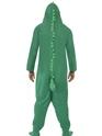 Adult Crocodile Onesie Costume  - Back View - Thumbnail