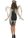 Adult Dark Fallen Angel Costume  - Side View - Thumbnail