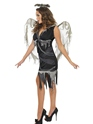 Adult Dark Fallen Angel Costume  - Back View - Thumbnail