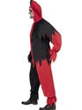 Adult Dark Jester Costume  - Back View - Thumbnail
