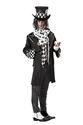 Adult Dark Mad Hatter Costume  - Back View - Thumbnail