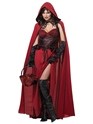 Adult Dark Red Riding Hood Costume Thumbnail