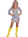 Deluxe 60's Cool Mini Dress Costume